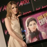 "Anna receiving an award for her ""Cups"" single"